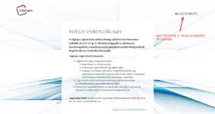 konyvelőzóna - Cégkapu regisztráció útmutató
