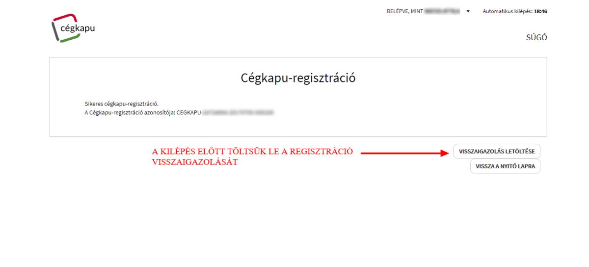 könyvelőzóna - Cégkapu regisztráció - útmutató